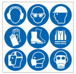 An image displaying several kinds of PPE.